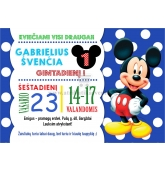 """Kvietimas """"Mickey mouse"""""""