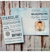 Kvietimas krikšto tėčiui lenkų kalba (atverčiamas) B