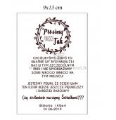 Vyno etiketė, kvietimas liudininkams (lenkų kalba)