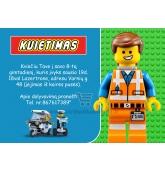 Kvietimai į Lego tema  gimtadienį