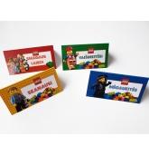 """Stalo kortelių rinkinys su užrašais """"Lego"""" tema"""