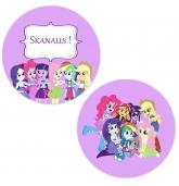 "Lipdukai ""My Little Pony: Equestria Girls"" - 10 vnt"