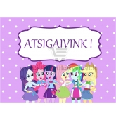 "Etiketė ""My Little Pony: Equestria Girls"" - Atsigaivink"