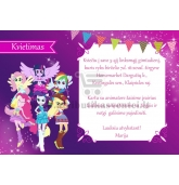 "Kvietimai ""My Little Pony: Equestria Girls"""