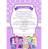 "Kvietimai ""My Little Pony: Equestria Girls"""