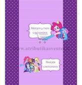 """Personalizuoti saldainių popierėliai """"Equestria Girls"""""""