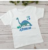 Dinozaurų gimtadienio marškinėliai