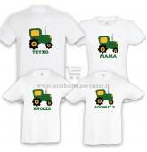 """Marškinėliai šeimai """"Traktoriai"""""""