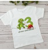 """Gimtadienio marškinėliai """"Dinozaurai"""""""