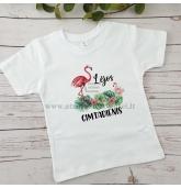 """Gimtadienio marškinėliai """"Flamingai"""""""