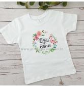 Teminiai marškinėliai su Flamingu