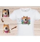 Marškinėliai su šuns portretu