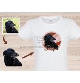 Marškinėliai su Jūsų augintinio portretu