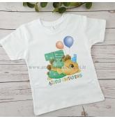 Trečiojo gimtadienio marškinėliai - Dinozauras