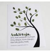 Mokinių pirštų antspaudų medis (1 dažų pagalvėlė)