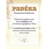Padėka liudininkams  vestuvių proga