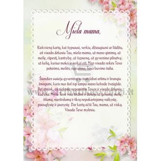 Padėka mamai vestuvių proga