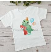 Pirmojo gimtadienio marškinėliai - Dinozauras