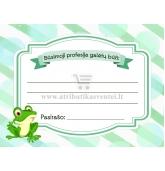 """Profesijos spėjimo kortelė """"Žaliasis varliukas"""""""