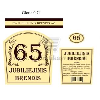 """Etiketė """"Jubiliejinis brendis-65"""""""
