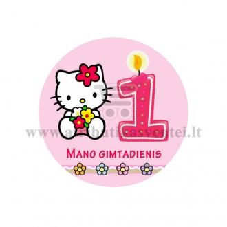 """Ženkliukas """"Mano gimtadienis"""" Hello Kitty 1m."""