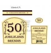 """Etiketė """"Jubiliejinis brendis-50"""""""