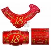 """Etiketė """"Jubiliejinis šampanas-18"""" (merginai)"""