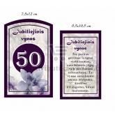 """Etiketė """"Jubiliejinis vynas-50"""""""