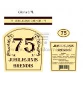 """Etiketė """"Jubiliejinis brendis-75"""""""