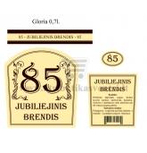 """Etiketė """"Jubiliejinis brendis-85"""""""