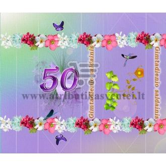 Saldainių popierėliai 50 jubiliejui