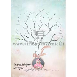 Svečių medžio dizaino pavyzdys