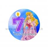 """Ženkliukas """"Mano gimtadienis"""" Princesė 7m."""