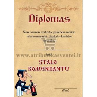 "Diplomas ""Stalo komendantas"""
