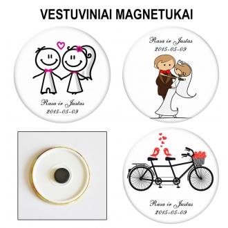 Vestuviniai magnetukai 10 vnt.