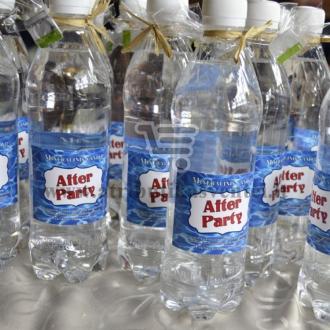 """Mineralinio vandens etiketė """"After party"""""""