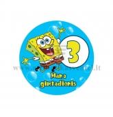 """Ženkliukas """"Mano gimtadienis"""" Kempiniukas Plačiakelnis 3m."""