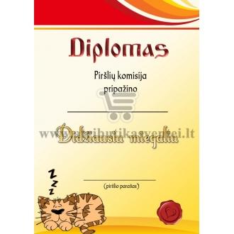 """Diplomas """"Didžiausias miegalius"""""""