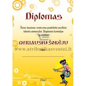 """Diplomas """"Geriausias šokėjas"""""""