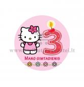 """Ženkliukas """"Mano gimtadienis"""" Hello Kitty 3m."""