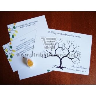Svečių medis (A4 formatas, 1 dažų pagalvėlė)