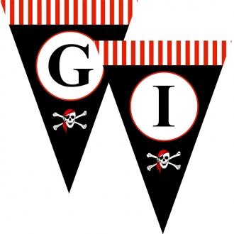"""Popierinė vėliavėlių girlianda """"Piratai"""""""