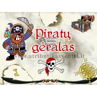 """Etiketė """"Piratų gėralas"""""""