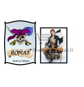 """Etiketė """"Piratų romas"""""""