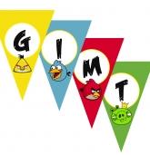 """Popierinė vėliavėlių girlianda """"Angry Birds"""""""