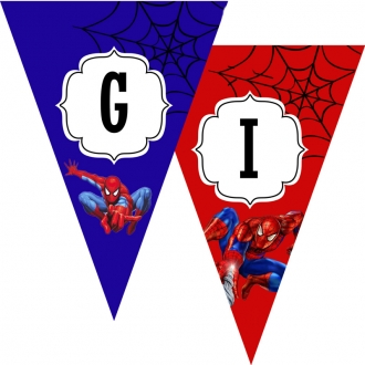 """Popierinė vėliavėlių girlianda """"Žmogus voras"""""""