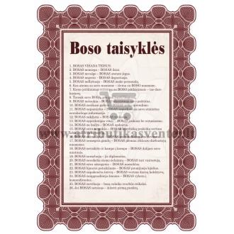 Boso taisyklės