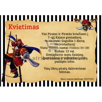 """Kvietimai """"Piratai""""-10 vnt"""