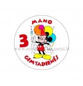 """Ženkliukas """"Mano gimtadienis"""" Peliukas Mikis 3m."""