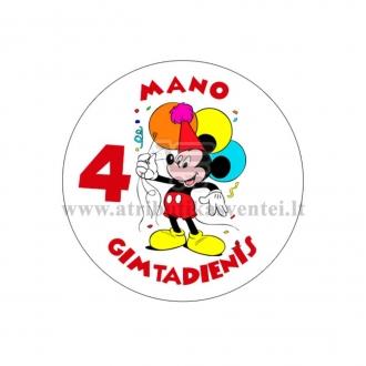 """Ženkliukas """"Mano gimtadienis"""" Peliukas Mikis 4m."""